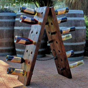 Recycled timber wine rack - The Nebuchadnezzar
