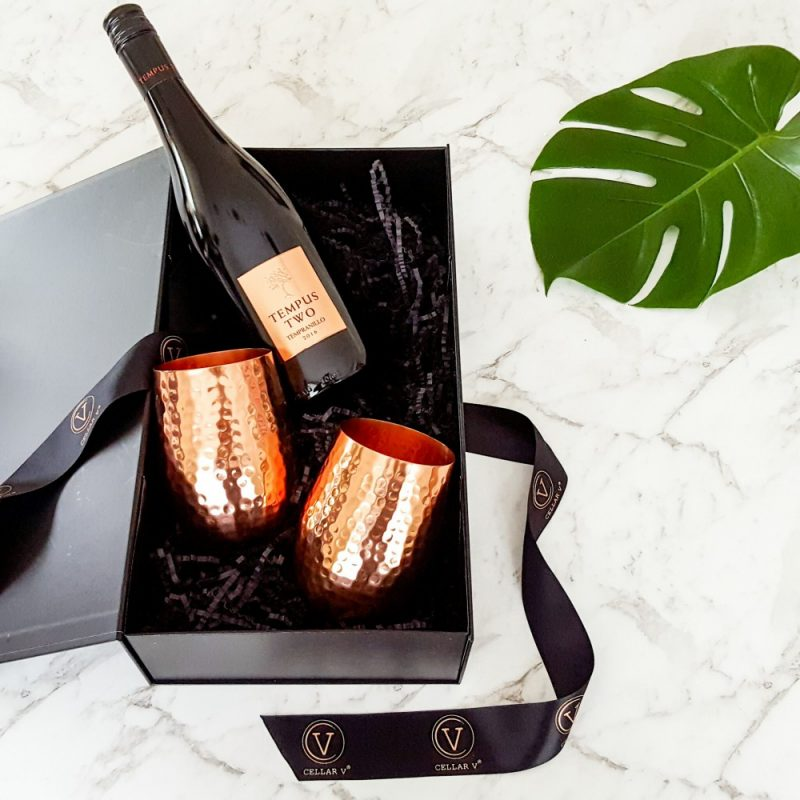 Wine and Copper Glass Hamper