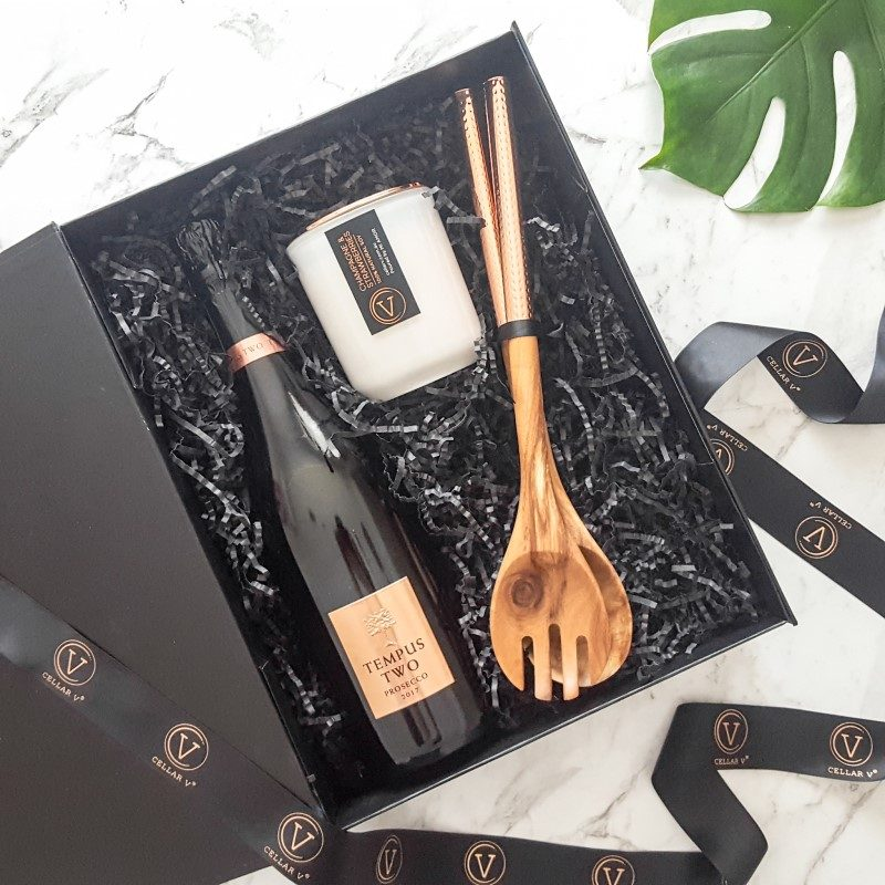 Salad Servers and Candle Gift